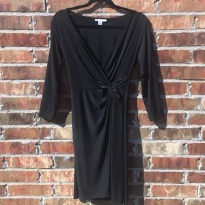 Black 3/4 Sleeve Elegant Party Dress